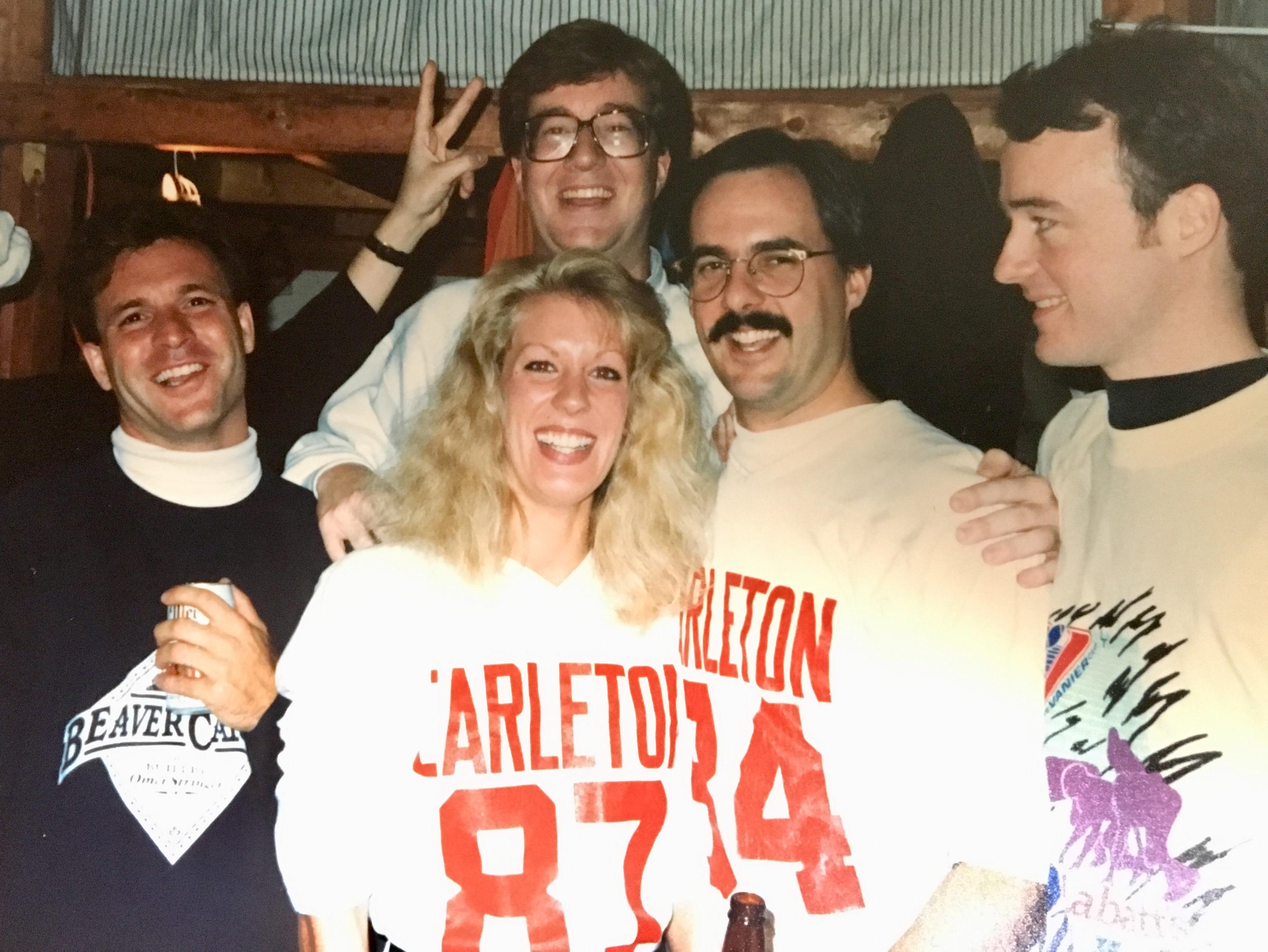 Gordie, Jim Watson, James Villeneuve, Annie Smith and me.